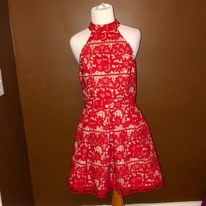 BNWT Red Crochet Overlay Dress — Size 6 US